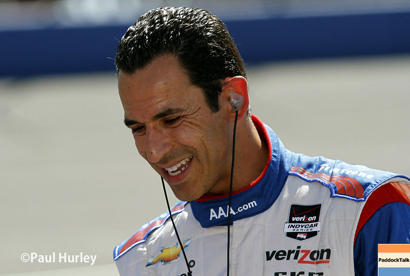 August 29: Helio Castroneves during MAVTV 500 practice and qualifications at Auto Club Speedway.
