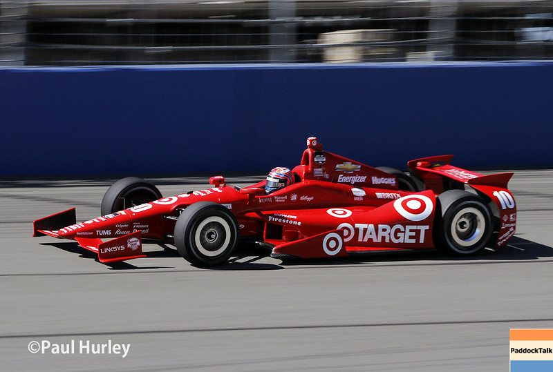 August 29: Tony Kanaan during MAVTV 500 practice and qualifications at Auto Club Speedway.