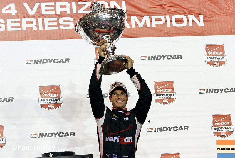 August 30:Will Power, IndyCar series champion,during the MAVTV 500 race at Auto Club Speedway.