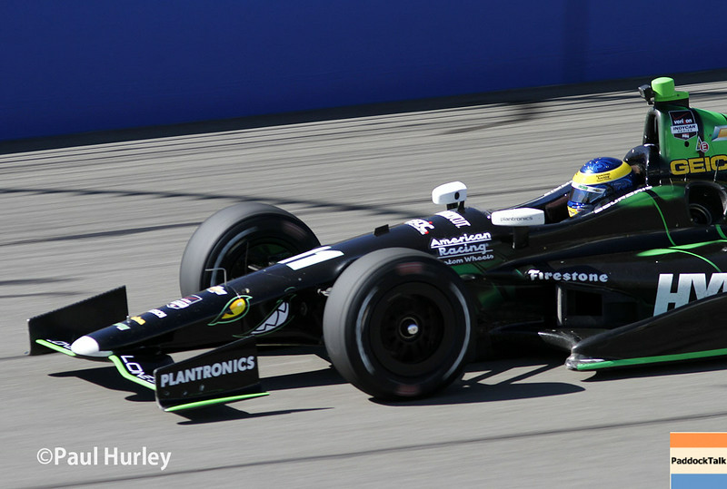 August 29: Sebastien Bourdais during MAVTV 500 practice and qualifications at Auto Club Speedway.