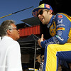 August 29: Mario Andretti and Marco Andretti during MAVTV 500 practice and qualifications at Auto Club Speedway.