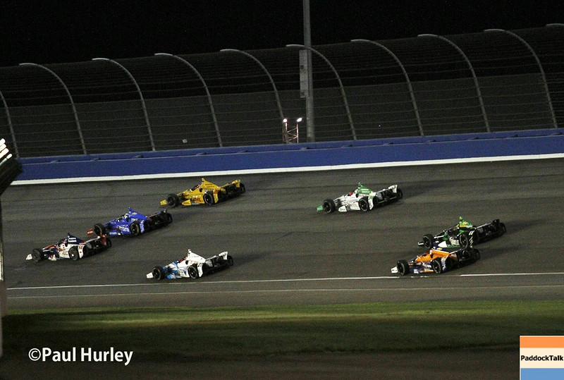 August 30:Turn 1 during the MAVTV 500 race at Auto Club Speedway.