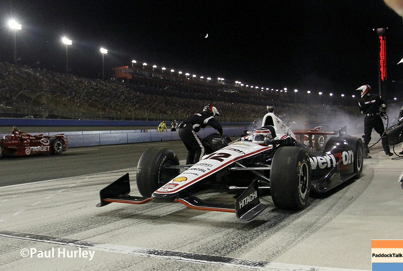 August 30:Will Power during the MAVTV 500 race at Auto Club Speedway.