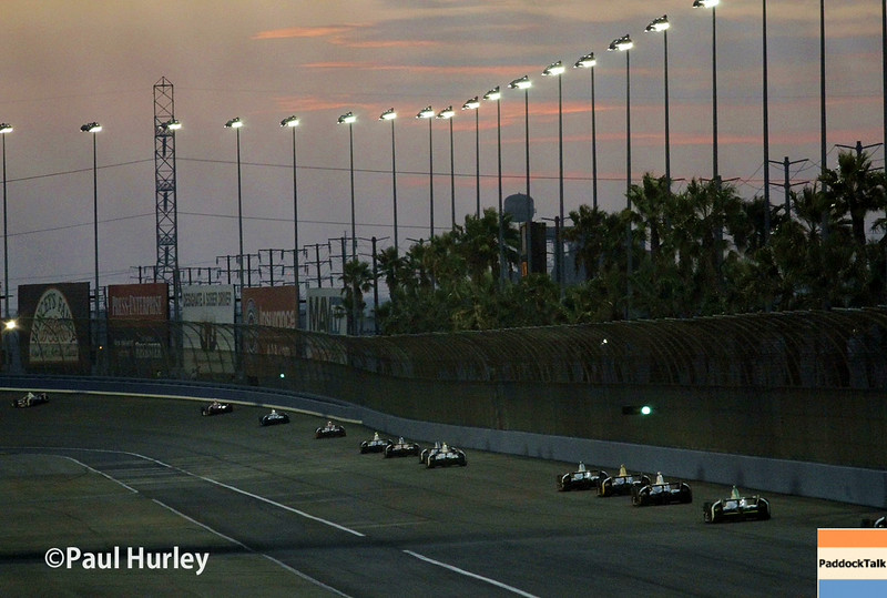 August 30:The backstretch during the MAVTV 500 race at Auto Club Speedway.