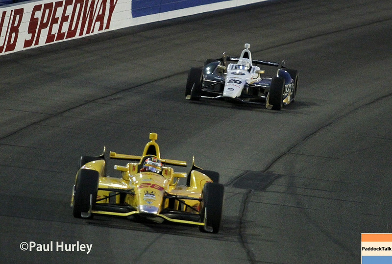 August 30:Ryan Hunter-Reay during the MAVTV 500 race at Auto Club Speedway.
