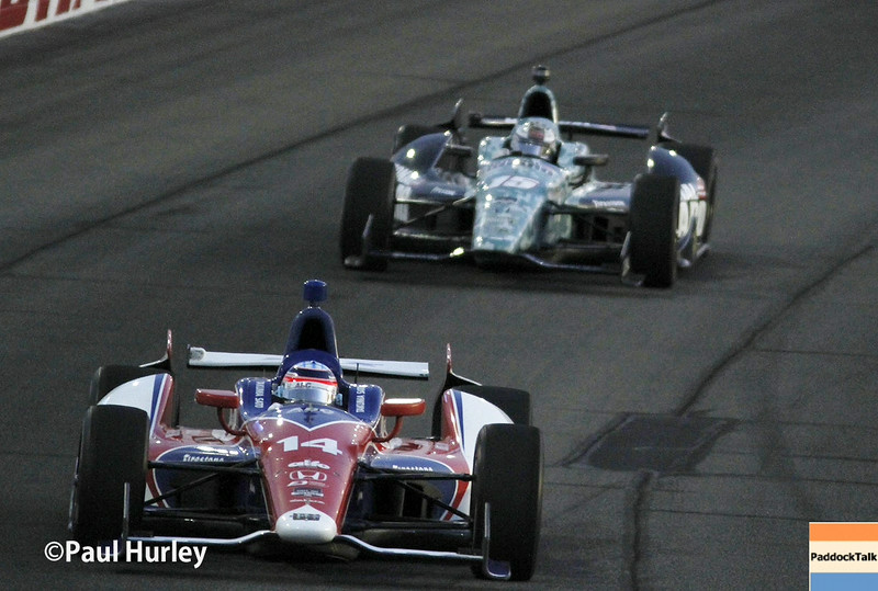 August 30:Takuma Sato during the MAVTV 500 race at Auto Club Speedway.