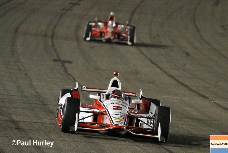 August 30:Juan Montoya during the MAVTV 500 race at Auto Club Speedway.