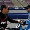 August 29: Juan Montoya and James Hinchcliffe during MAVTV 500 practice and qualifications at Auto Club Speedway.