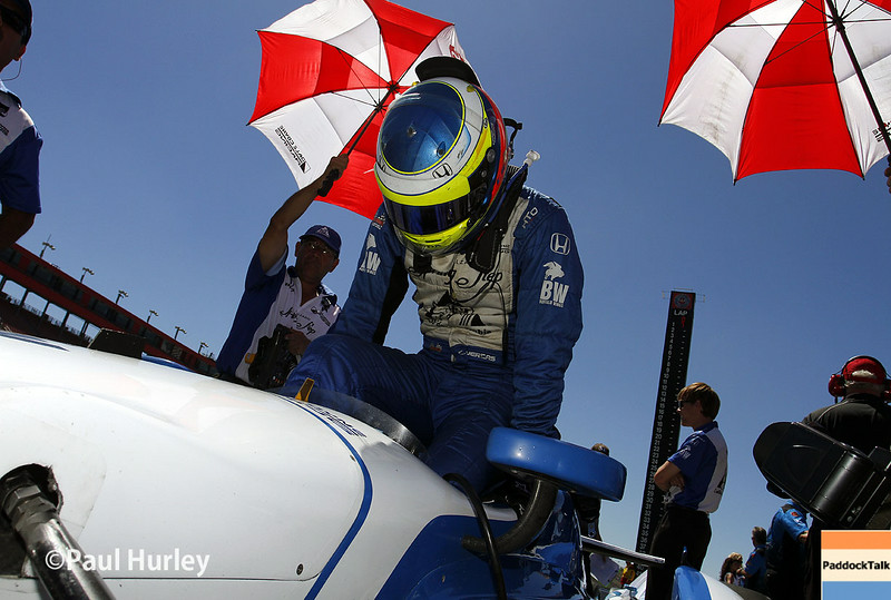 August 29: Carlos Huertas during MAVTV 500 practice and qualifications at Auto Club Speedway.