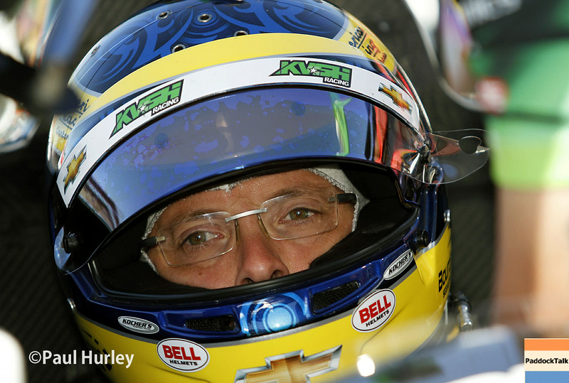 August 29: Sebastien Bourdais during MAVTV 500 practice and qualifications at Auto Club Speedway.