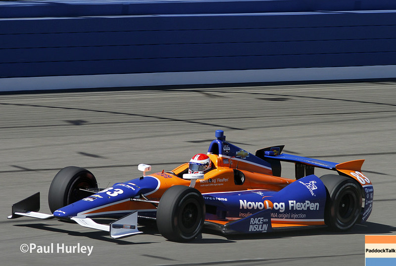 August 29: Charlie Kimball during MAVTV 500 practice and qualifications at Auto Club Speedway.