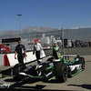 August 29: Sebastien Bourdais' car during MAVTV 500 practice and qualifications at Auto Club Speedway.