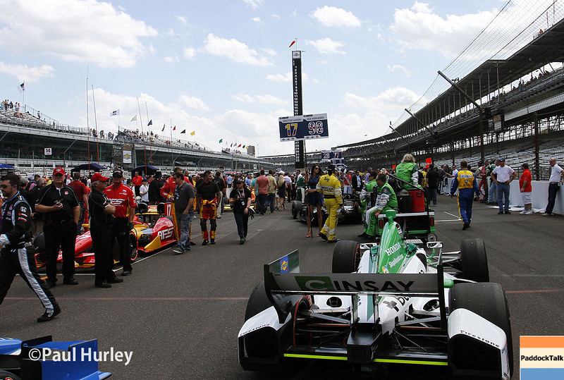 May 10: Race day grid during the Grand Prix of Indianapolis.