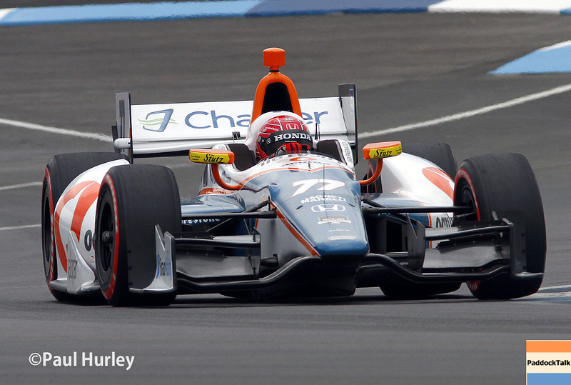 May 9: Simon Pagenaud during practice and qualifications for the Grand Prix of Indianapolis