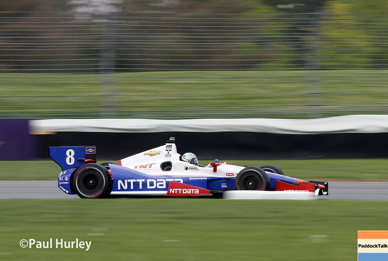 May 9: Ryan Briscoe during practice and qualifications for the Grand Prix of Indianapolis