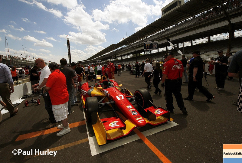 May 10: The grid during the Grand Prix of Indianapolis.