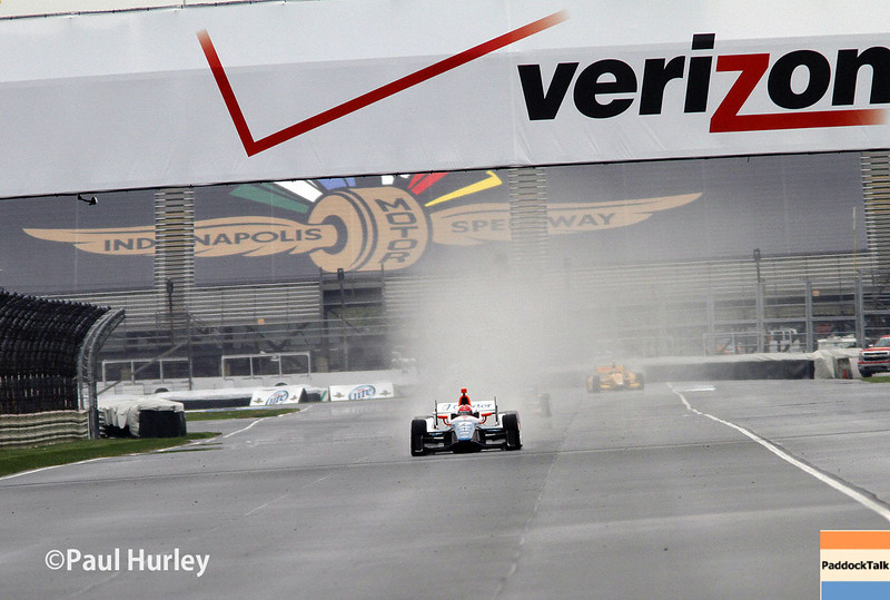 May 9: The back straight during practice and qualifications for the Grand Prix of Indianapolis