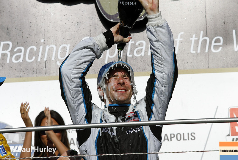 May 10: Victory celebration during the Grand Prix of Indianapolis.