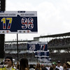 May 10: Sign boards during the Grand Prix of Indianapolis.