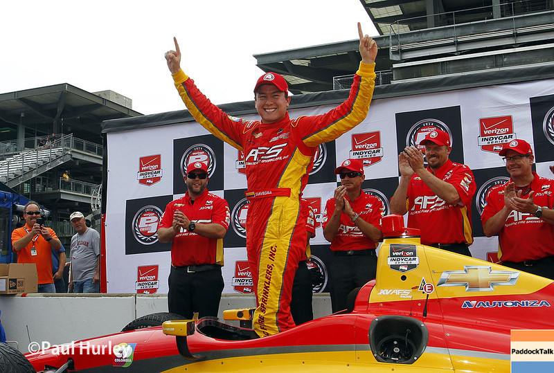May 9: Sebastian Saavedra pole winner during practice and qualifications for the Grand Prix of Indianapolis
