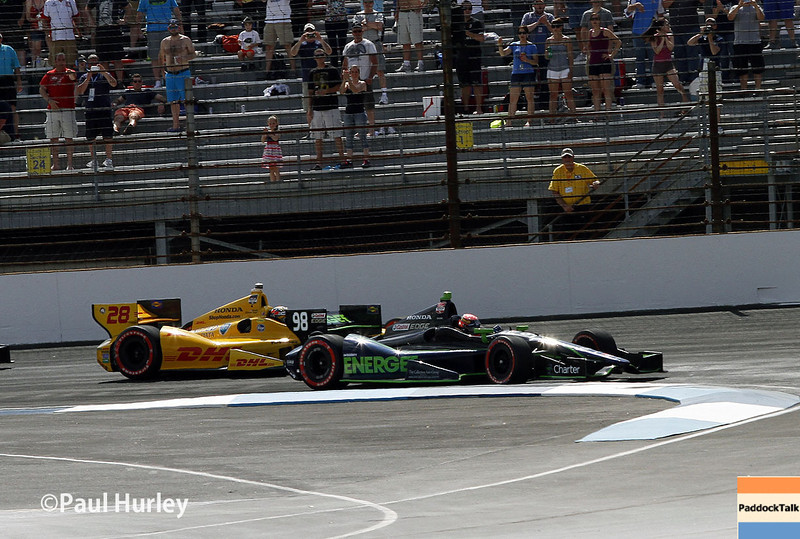 May 10: Jack Hawksworth gets the lead during the Grand Prix of Indianapolis.
