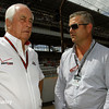 May 10: Roger Penske and Gil deFerran during the Grand Prix of Indianapolis.
