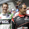 May 10: Juan Montoya and Sebastien Bourdais during the Grand Prix of Indianapolis.