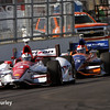 May 10: Helio Castroneves and Charlie Kimball during the Grand Prix of Indianapolis.