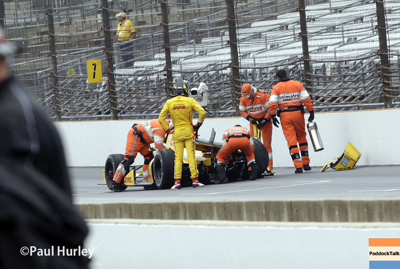 May 9: Ryan Hunter-Reay crash during practice and qualifications for the Grand Prix of Indianapolis