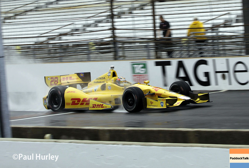 May 9: Ryan Hunter-Reay during practice and qualifications for the Grand Prix of Indianapolis