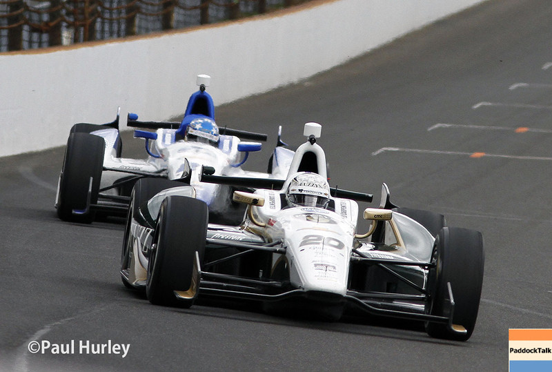 Setting the top time for the month was Ed Carpenter and his No. 20 IndyCar Chevrolet with a lap of 230.522 mph.