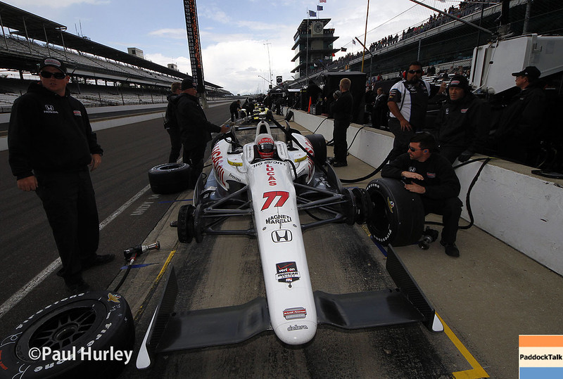 May 16: Simon Pagenaud during practice for the Indianapolis 500.