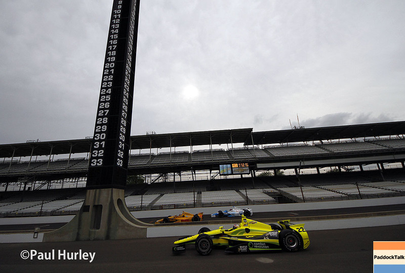 May 12: Pit lane during practice for the Indianapolis 500.