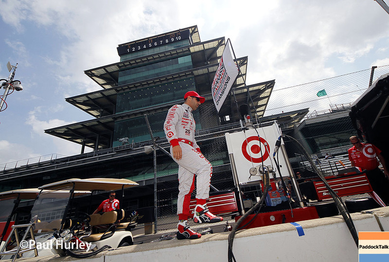 May 13: Tony Kanaan during practice for the Indianapolis 500.