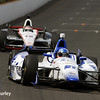 May 12: J.R. Hildebrand and Will Power during practice for the Indianapolis 500.
