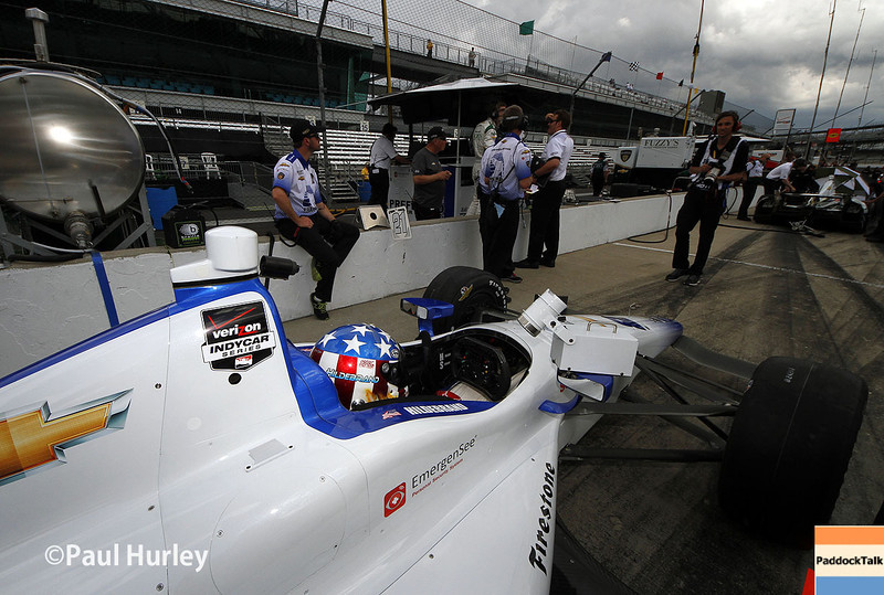 May 10: J.R. Hildebrand during practice for the Indianapolis 500.