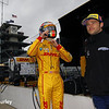 May 15: Ryan Hunter-Reay and Marco Andretti during practice for the Indianapolis 500.