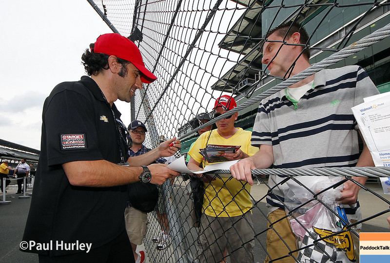 May 12: Dario Franchitti during practice for the Indianapolis 500.