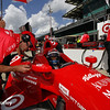 May 10: Tony Kanaan during practice for the Indianapolis 500.