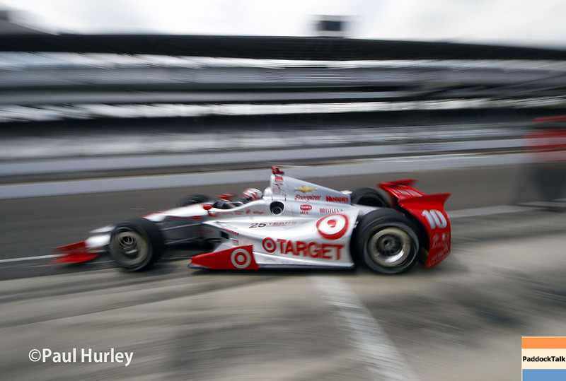 May 12: Tony Kanaan during practice for the Indianapolis 500.