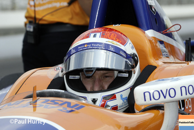 May 13: Charlie Kimball during practice for the Indianapolis 500.