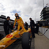 May 15: Ryan Hunter-Reay during practice for the Indianapolis 500.