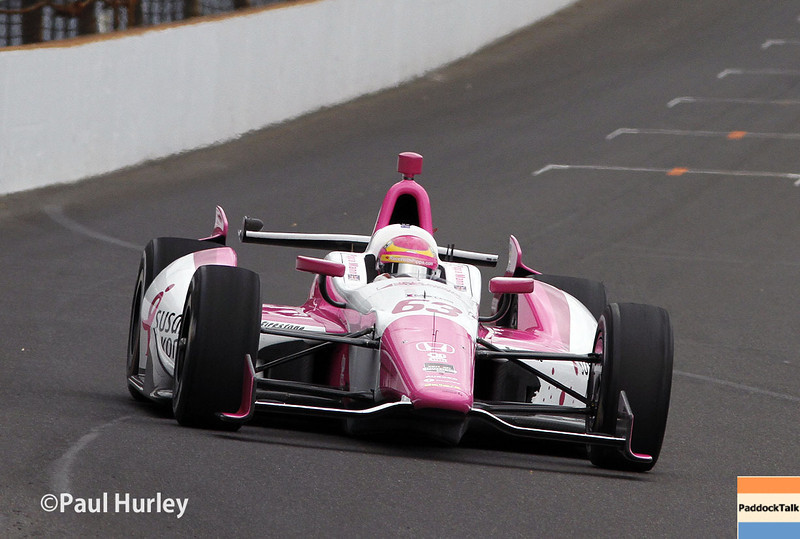 May 15: Pippa Mann during practice for the Indianapolis 500.