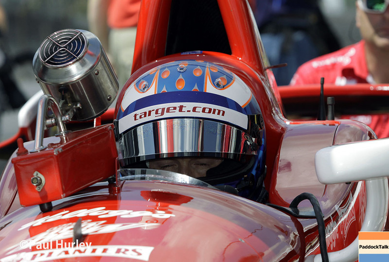 May 10: Scott Dixon during practice for the Indianapolis 500.