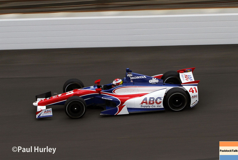 May 10: Martin Plowman during practice for the Indianapolis 500.