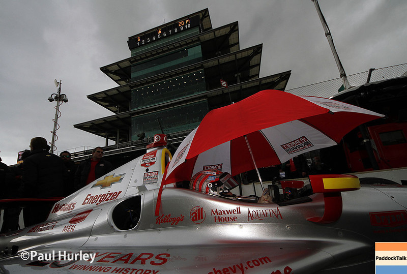 May 16: Scott Dixon during practice for the Indianapolis 500.