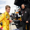 May 16: Ryan Hunter-Reay and Michael Andretti during practice for the Indianapolis 500.