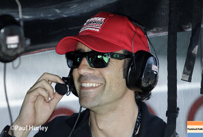 May 10: Dario Franchitti during practice for the Indianapolis 500.