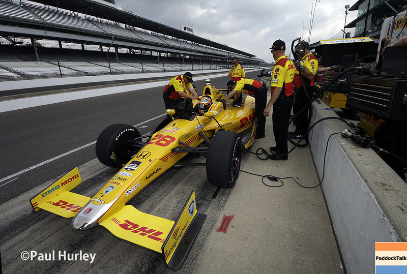May 13: Ryan Hunter-Reay during practice for the Indianapolis 500.