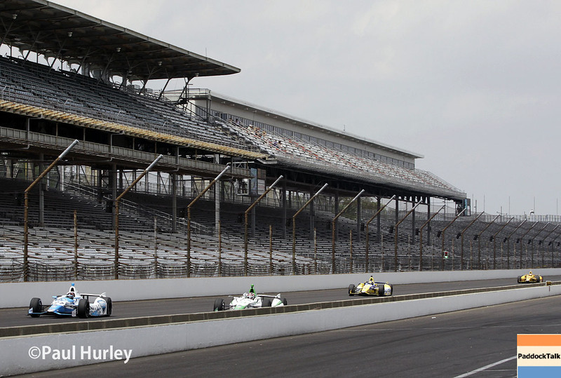 May 12: Track action during practice for the Indianapolis 500.
